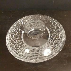 Orrefors crystal dish votive twilight candle holde